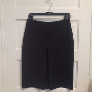 Express Black Split Front Skirt